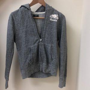 Roots gray zip-up hoodie